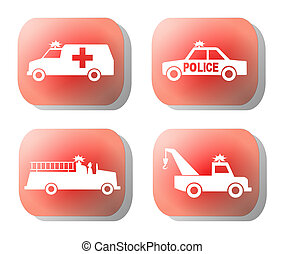 emergency button illustration
