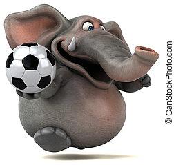 diversión, elefante, -, 3D, Ilustración
