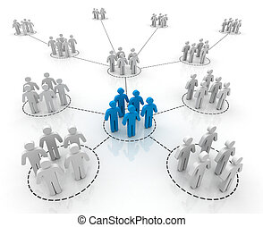 human connections isolated 3d illustration