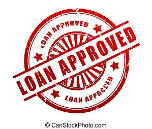 loan approved stamp concept  3d illustration