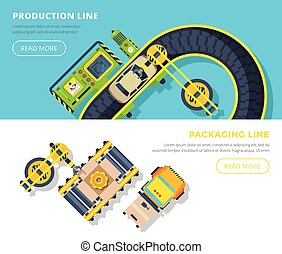 Production Line Horizontal Banners - Top view horizontal...