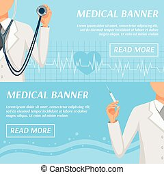 Medical Horizontal Banners Webpage Design - Health care...