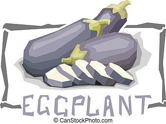 Illustration of bell eggplants. - Vector simple illustration...