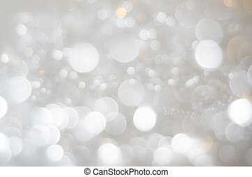 White, Silver and Gold Bokeh Texture Background - A bokeh...