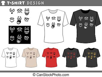 t shirt design with emotions - Illustration of T-Shirt...