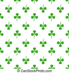 Green Clover Seamless Pattern. Shamrock Background