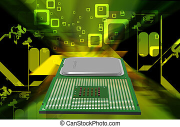 processor - Highly quality of 3d processor in digital color...