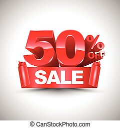 3d vector shiny red discount 50%