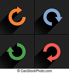 Arrow icon refresh, rotation, repeat, reload sign - 4 arrow...