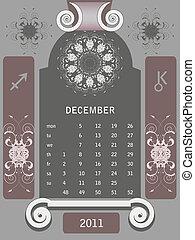 Retro windows calendar December