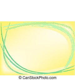 abstract yellow background with green chalk strokes