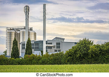 Bio energy plant close up - Image with a german energy...
