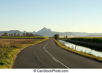 Mt Warning, Northern NSW, Australia - A road leading to...