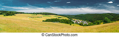 Panoramic View Of Rural Landscape In Germany