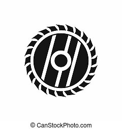 Circular saw blade icon, simple style - icon in simple style...