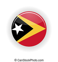 East Timor icon circle isolated on white background Dili...