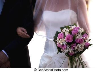 Bouquet - A bride with colored bouquet