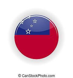 Samoa icon circle isolated on white background Apia icon...
