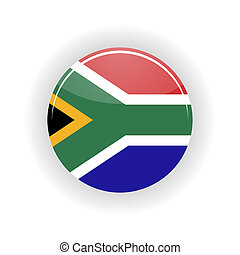 South Africa icon circle - icon circle isolated on white...