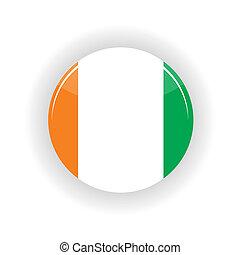 Ivory Coast icon circle isolated on white background...