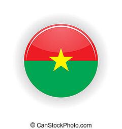 Burkina Faso icon circle - icon circle isolated on white...