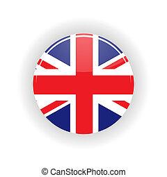 United Kingdom icon circle - icon circle isolated on white...