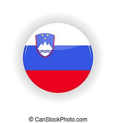 Slovenia icon circle - icon circle isolated on white...