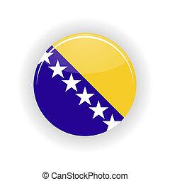 Bosnia and Herzegovina icon circle isolated on white...