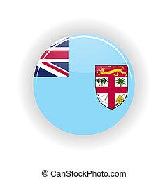Fiji icon circle - icon circle isolated on white background....