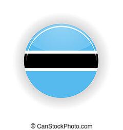Botswana icon circle - icon circle isolated on white...