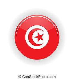 Tunisia icon circle - icon circle isolated on white...