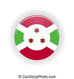 Burundi icon circle - icon circle isolated on white...