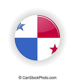 Panama icon circle - icon circle isolated on white...