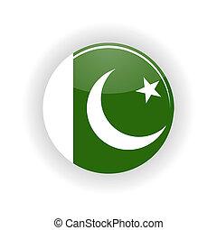 Pakistan icon circle - icon circle isolated on white...