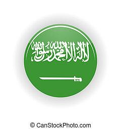 Saudi Arabia icon circle - icon circle isolated on white...