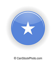 Somalia icon circle isolated on white background. Mogadishu...