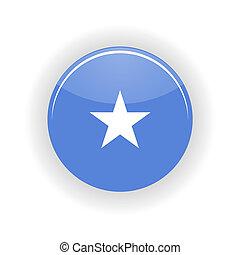 Somalia icon circle isolated on white background. Mogadishu...
