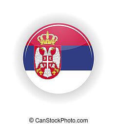 Serbia icon circle - icon circle isolated on white...