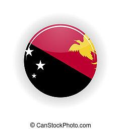 Papua New Guinea icon circle - icon circle isolated on white...