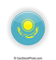 Kazakhstan icon circle - icon circle isolated on white...