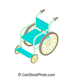 Wheelchair icon in cartoon style - icon in cartoon style on...
