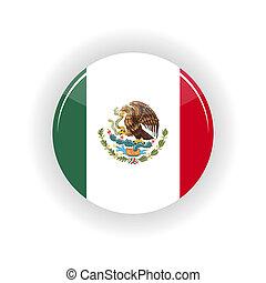 Mexico icon circle - icon circle isolated on white...