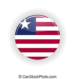Liberia icon circle - icon circle isolated on white...