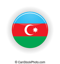 Azerbaijan icon circle isolated on white background. Baku...