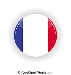 France icon circle - icon circle isolated on white...