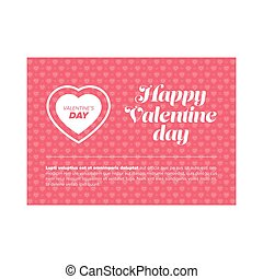 Happy Valentine day banner with heart and sample text