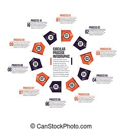 Circular Process Infographic
