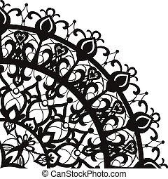Quadrant ornament in ethnic style - Geometric quadrant...