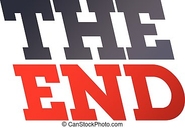 the end word art theme vector graphic illustration