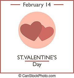 St.Valentines Day. February 14. Vector illustration for you...